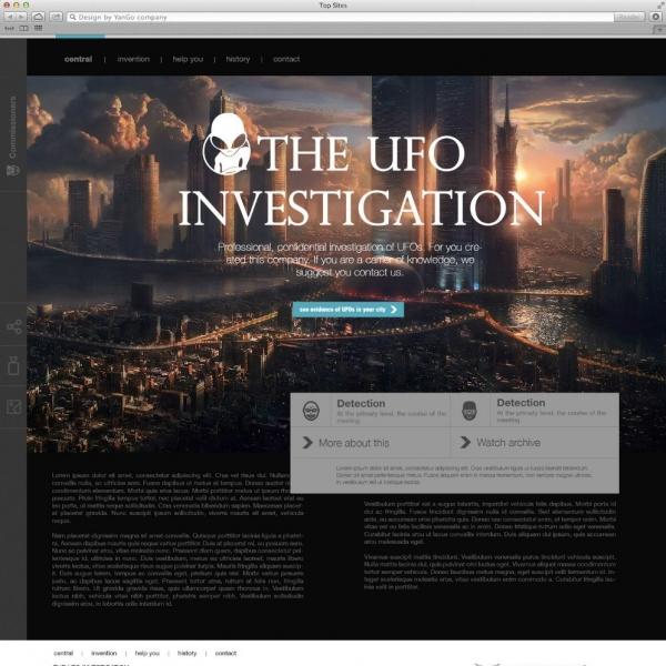 создание сайта UFO
